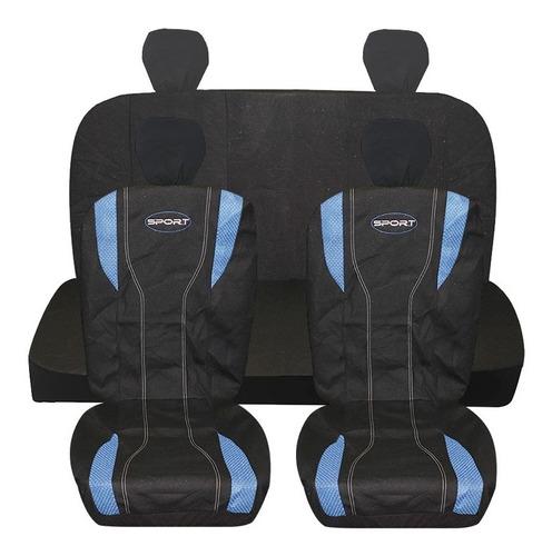 Cubre Asiento Auto Color Negro/azul