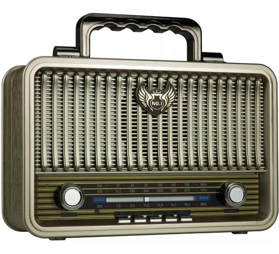 Radio Am Fm Bluetooth Vintage Retro Antigo Caixa Som Potente