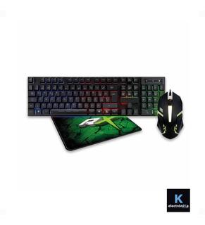Kit Gamer Pro + Teclado + Mouse Y Mousepad Diseño / K