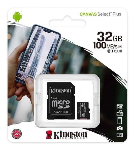 Tarjeta De Memoria Kingston 32gb 100mbps Canvas Select Plus