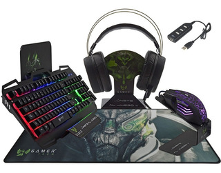 Combo Ultra Gamer Tech Rgb Gt1c Con Multipuerto