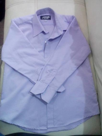 Camisa Para Niño Talla 10 Lila De Vestir