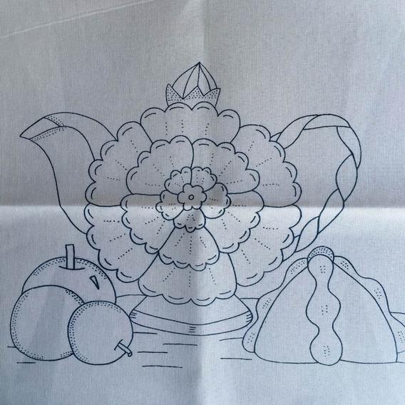 Servilletas Con Dibujo Para Bordar Recuerdos Cotillón Y
