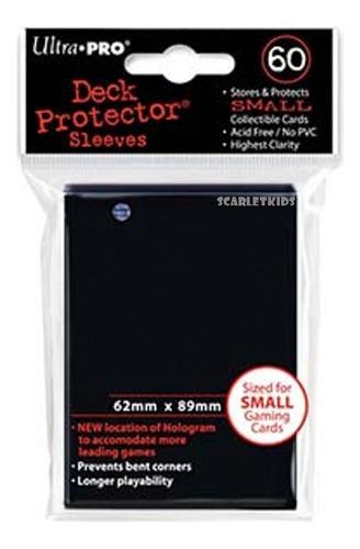 Imagen 1 de 7 de Protectores Ultra Pro X60 Unidades Negro Para Yu-gi-oh!