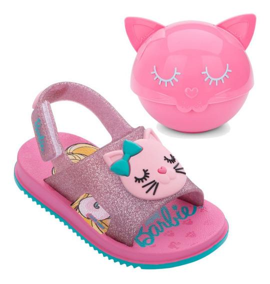 Grendene Barbie Fashion Cat 22150 Sandália Infantil Menina