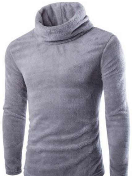 Suéter De Veludo Mangas Compridas