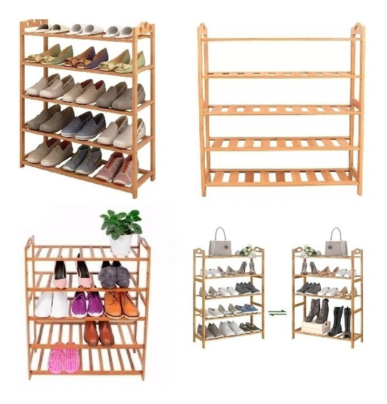 Organizador Em Madeira Estante Com 5 Prateleiras 30 Sapatos
