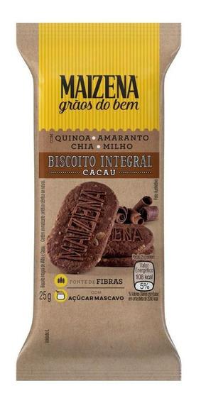 Biscoito Integral Cacau Maizena Grãos Do Bem Pacote 25g