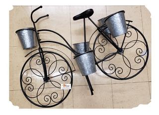 Macetero Bicicleta Metal Galvanizado Incluye Envio 10 Mayo