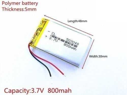 Bateria 5mm X 30mm X 48mm 3,7v 800mah Gps iPod Rastreador