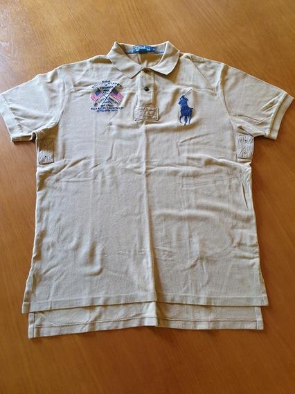 Camiseta Polo Ralph Lauren Custom Fit Tam G Brasil Obc Store