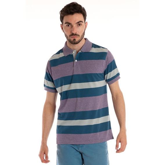 Camisa Polo Manga Curta Listrada Lilás
