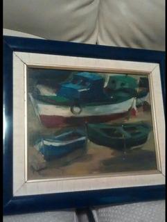 Obra De Arte, (botes ) De Apolinar Neira