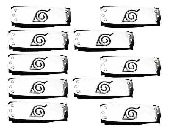 10 Bandana Naruto Aldeia Da Folha Konoha - Atacado Revenda