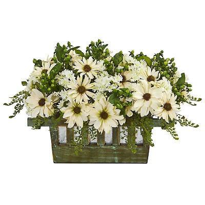 Gracie Robles Margarita Arreglo Floral En Maceta Decorativa