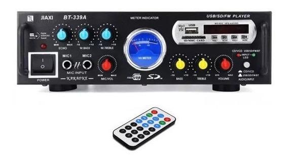 Amplificador Digital Receiver Modulo Bluetooth Usb Fm Rádio
