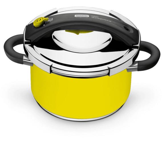 Panela De Pressão Tramontina Presto 6 Litros Indução Amarela