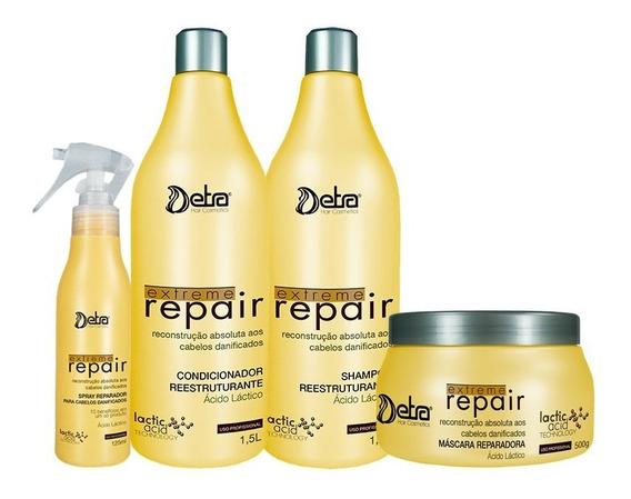 Kit Extreme Repair Detra (4 Produtos) Original Frete Grátis