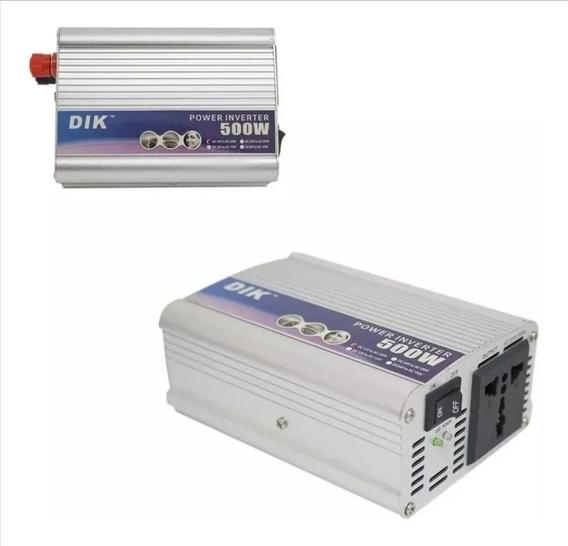Inversor Transformador De Voltagem 500w 12 Volts P 110volts