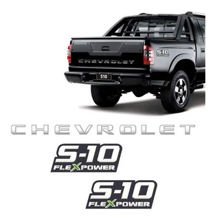 Kit Faixa S10 Chevrolet 2009/2011 + Flex Power Verde