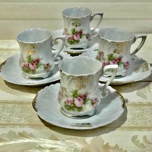 Antiguas Tazas De Porcelana Francesa
