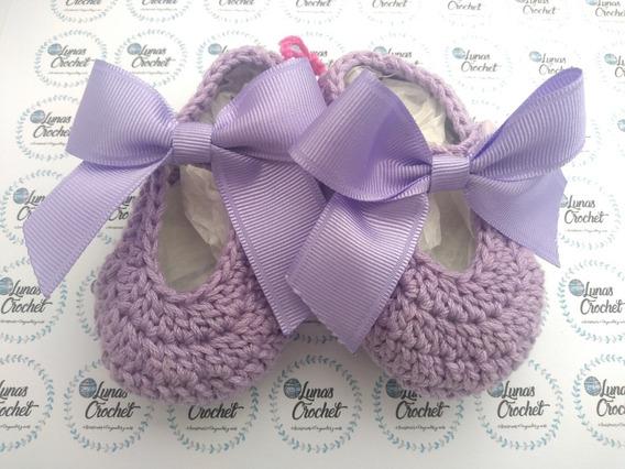 acortar tumor collar  Zapatitos De Bebe Niña Crochet