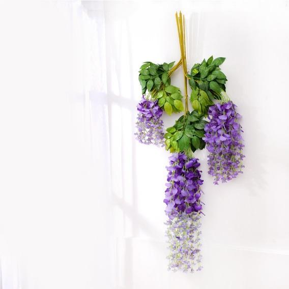12 Pcs Flores Artificial Decoracion Lote Colores 1.1 M Set