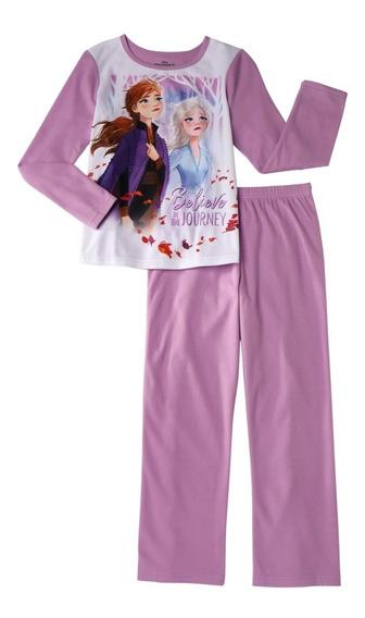 Pijama Disney Frozen 2 Niña Franela Afelpada Set De 2 Piezas