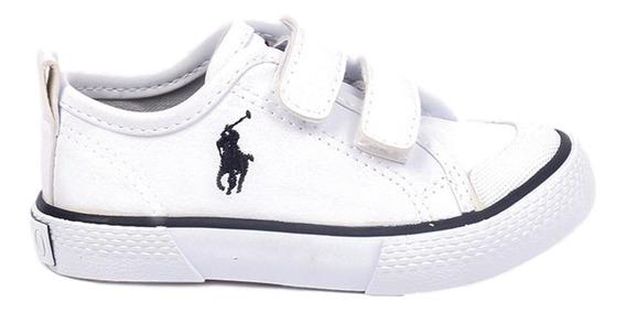 Tenis Polo Ralph Lauren Para Niño Tipo Escolar Color Blanco