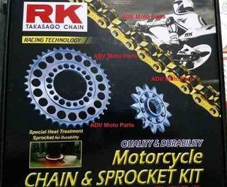 Kit Relação Rk Triumph Tiger 800 Todos Modelos Todos Os Anos