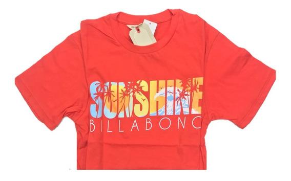 Remera Billabong Mujer Sunshine Palms Tee 12107009 Cna