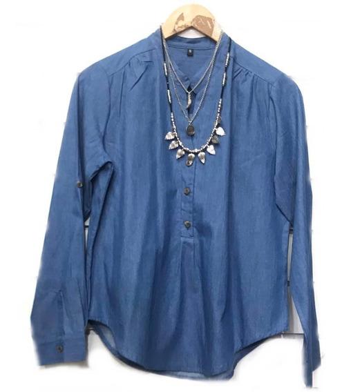 Camisa De Jean Mujer Todos Los Talles Hasta 4 Xl Camisola