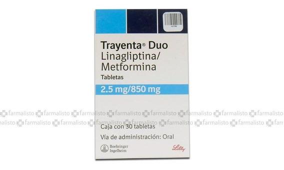 Trayenta Duo 2.5 / 850 Mg Caja Con 30 Tabletas