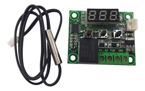 Termostato Digital W1209 Geladeira Freezer 12v Controle Verd