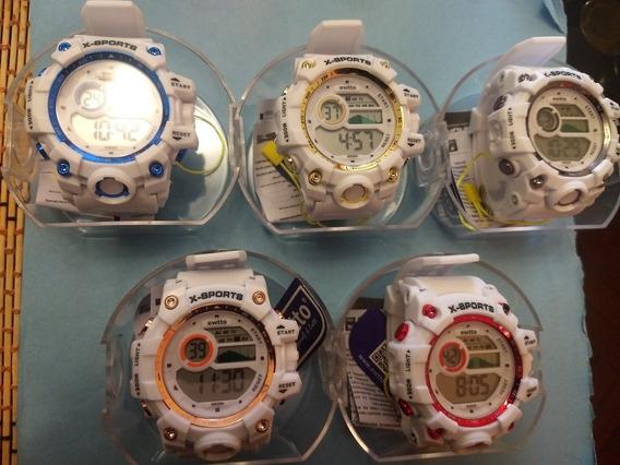 Relojes Moda Varon , Acuático , Cronometro Y Alarma