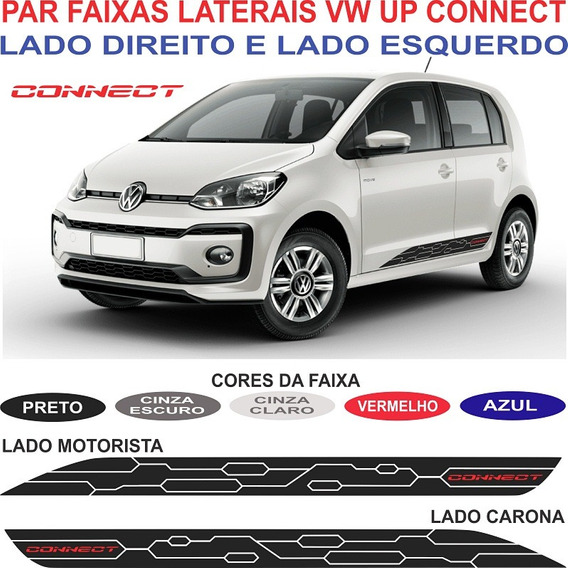 Par Adesivos Vw Up Connect 2018 Faixas Sport