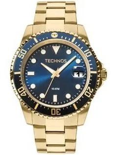 Relógio Masculino Technos Skymaster Dourado