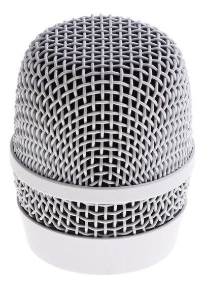 Aço Handheld Microfone Substituição Grade Cabeça Mic Malha C