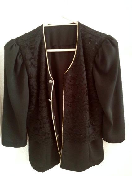 Abrigo Dama Saco Mujer Blazer Negro Elegante