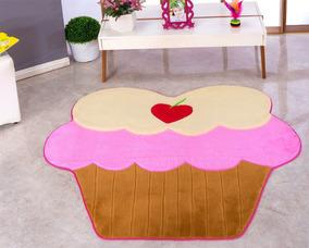 Tapete Infantil Gigante Cupcake Pelucia P/ Meninas Decoração