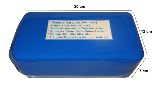 Bateria Lítio Bicicleta Elétrica 36v 13ah Com Carregador
