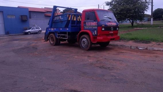 Caminhão Poli-guindaste Vw - 11.140 (pronto Para Trabalhar)