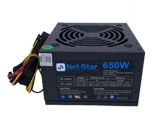 Fuente Poder 650w Cable Largo 50cm Compatibles Case Gamer