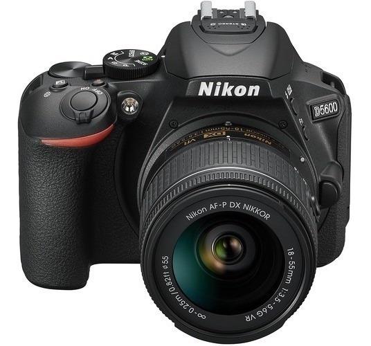 Câmera Nikon D5600 Af-p Dx Nikkor Vr 18-55mm F/3.5-5.6g Vr