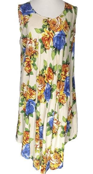 Vestido Solero Estampado Amplio Moda India V1366