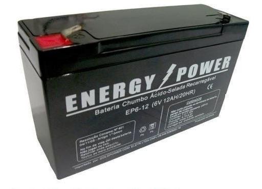 Kit Bateria Para Moto Eletrica Bandeirantes 6v 12ah