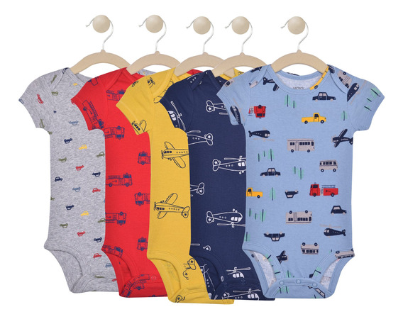 Set De 5 Bodies Manga Corta Carters Boys 126h5770