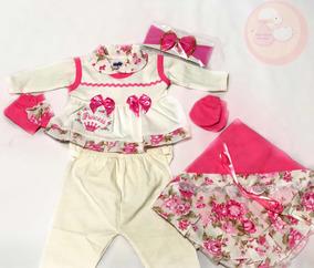 Saída De Maternidade Rosa Bebê Reborn Completa Promoção!!