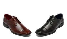 Kit Com Dois Sapatos Sociais De Cadarço