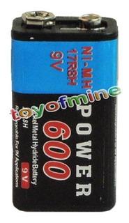 Batería Pila Cuadrada Recargable 9v 600mah Ni-mh Durable